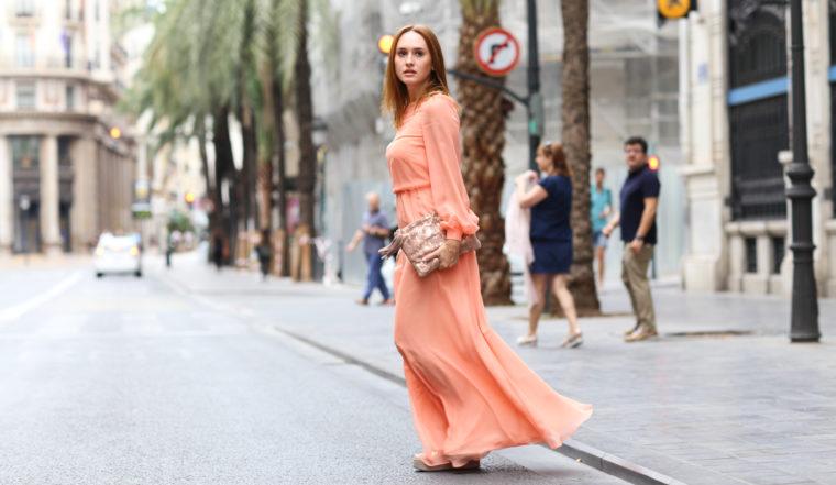 Apricot Dress By Young German Designer Sabine Feuerer