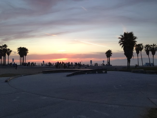 Sonnenuntergang Venice Beach Los Angeles, sunset at venice beach california
